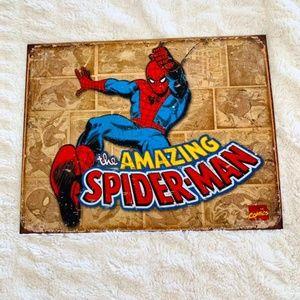 "Spiderman ""Vintage Look"" Tin Wall Sign"